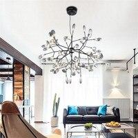Nordic Loft Branch Tree Design LED Chandelier Lighting lamp Modern Glass Leaf Pendant Lamp Ceiling Luminaire Lustre Lighting
