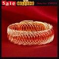 Панк себе золотой большой коренастый большой кабель провод цепи скручены коса выдолбите браслет для женщин человека подарок ювелирных изделий