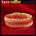 Declaração do Punk ouro Big Chunky grande primavera cadeia cabo Wire trança torcida oca pulseira para as mulheres homem de presente da jóia