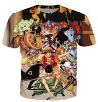 Cartoon One Piece T Shirt Monkey D Luffy Roronoa Zoro T Shirt Nami Usopp Sanji Tony