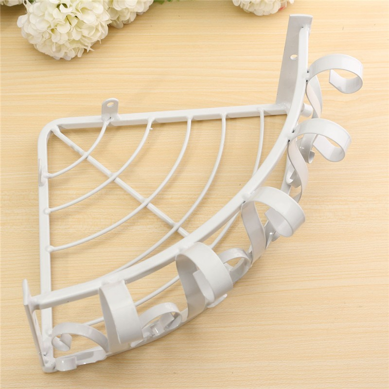 Iron Wall Spider Flower Plant Vase Pot Stand Holder Hooks Style Home ...
