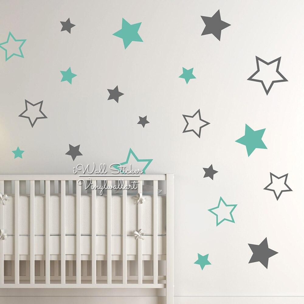 Faszinierend Wandtattoo Kinderzimmer Ideen Von Baby Sterne Wandaufkleber Stern Wandaufkleber Removable Dekore