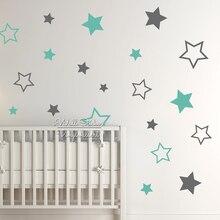 Детские Детские Звезд Стикер Звезды Наклейки На Стены Детская Комната Стикер Стены Детская Комната Easy Wall Art Cut Винил N22