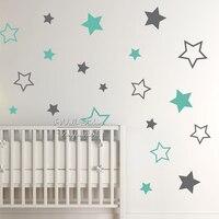 Baby Nursery Stars Wall Sticker Star Wall Decal Children Room Wall Sticker Kids Room Easy Wall