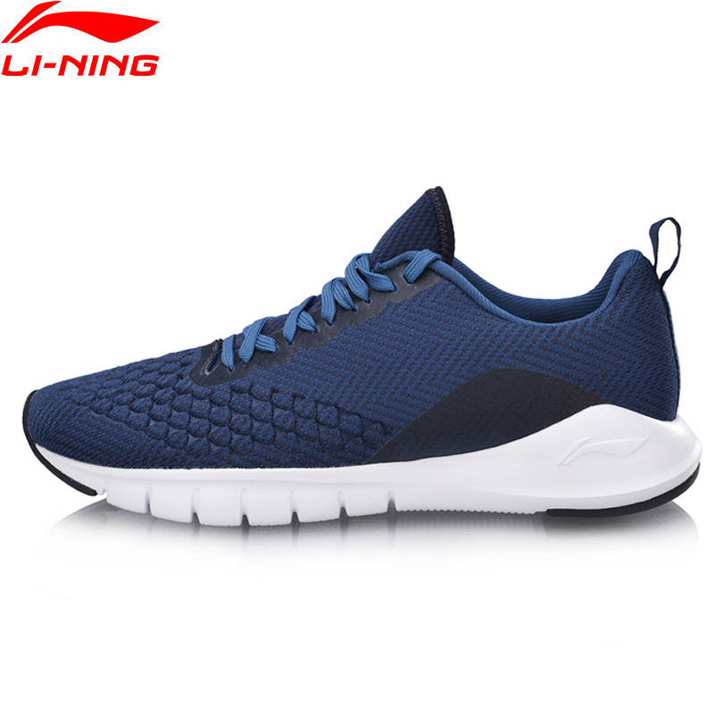 Li-Ning Men FLEX RUN Running Shoes Breathable Mono Yarn LiNing Li Ning Comfort Textile Sport Shoes Sneakers ARKN015 XYP819