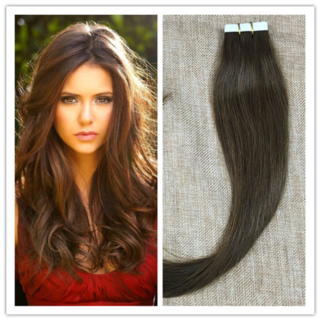 Full Shine Pu Skin Weft Tape In Hair Real Hair Extensions Seamless