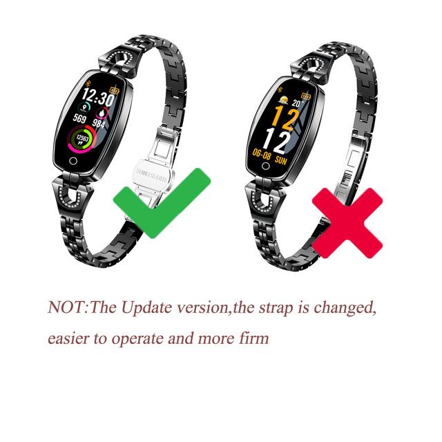2019 Update H8 Smart Bracelet Watch Fashion Heart Rate Blood Pressure Watch Pedometer Waterproof Fitness Bracelet for Women