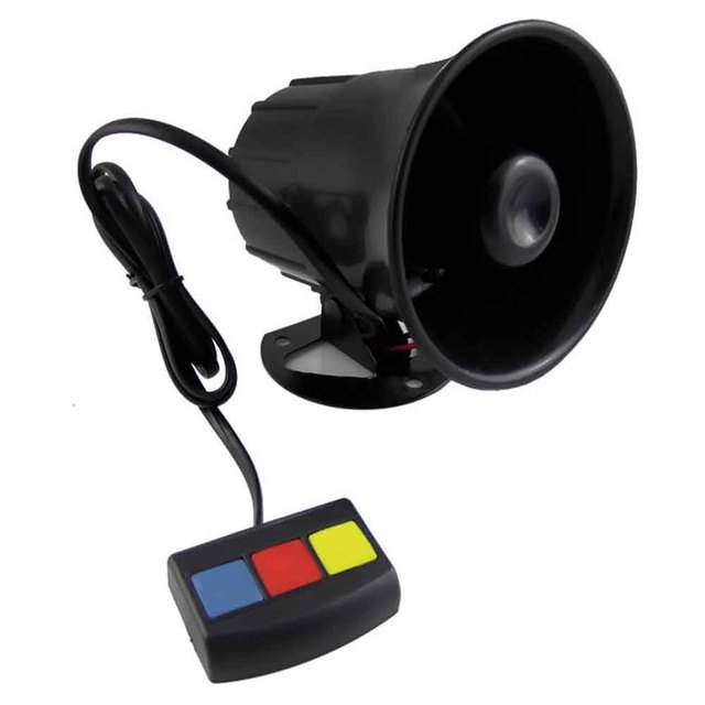 Motorcycle Car Security Horn 12V with 3 Sounds Van Vehicle Loud Siren For Car Motorcycle Moped Truck Construction Vehicles
