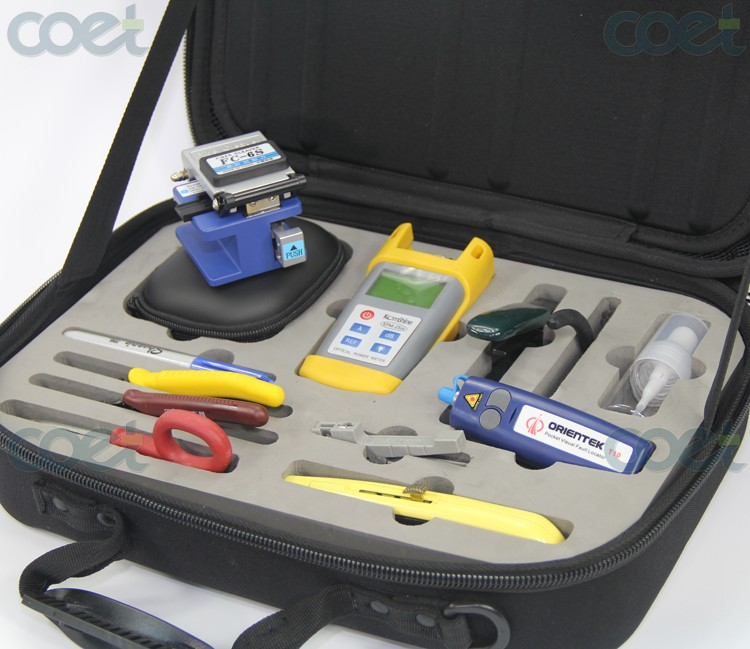 FTTH tool kit Orientek TFH-13 Fiber Optic Tool Kit with Fiber CleaverFTTH tool kit Orientek TFH-13 Fiber Optic Tool Kit with Fiber Cleaver