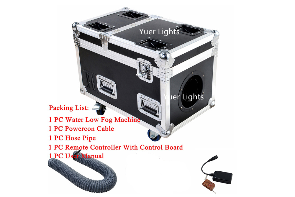 Image 3 - High Quality Small Case 3000W Water Base Fog Machine Water Mist Low Fog Smoke Machine Good For Xmas Holiday Stage Decorations-in Stage Lighting Effect from Lights & Lighting