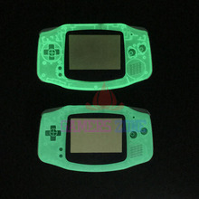 Verde y Azul Para Gameboy Advance Brillan en la Oscuridad Shell Caso de Viviendas de plástico w caso Luminoso de Pantalla Para GBA cubierta