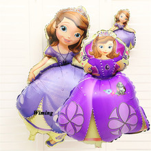 sophia princess balloons for birthday party decoration supplies adult kids girls cartoon sofia foil