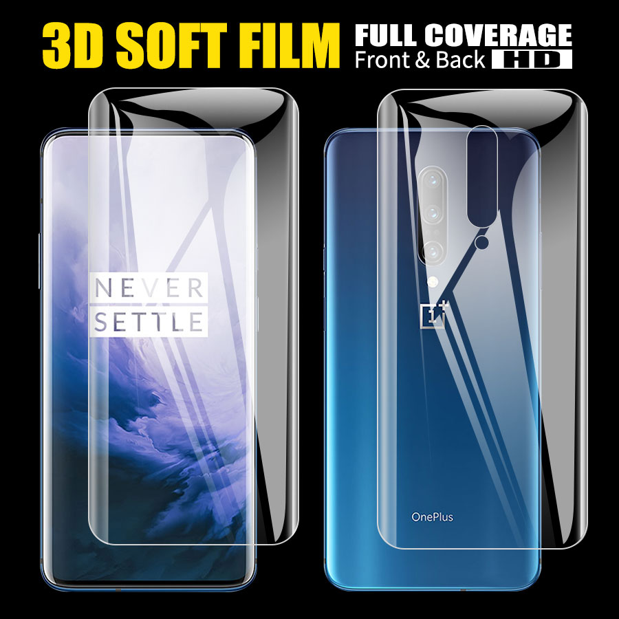Hydrogel-Film Screen-Protector Tpu-Film Back Oneplus Full-Cover 7-Pro for 3D 2pcs Clear