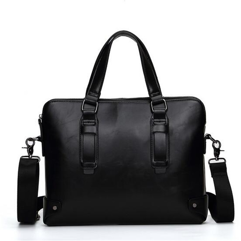 2016 Men Casual Briefcase Business Shoulder Bag PU Leather Messenger Bags Computer Laptop Handbag Bag Men's Travel Bags NBB235 2015 men casual briefcase business shoulder leather bag men messenger bags computer laptop handbag bag men s travel bags