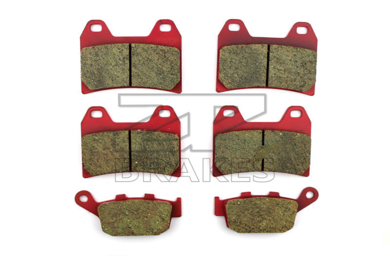 Motorcycle Brake Pads For HONDA CB 400 SF (F3V) Superfour (NC31) 1997 F+R New Ceramic Composite High Quality ZPMOTO high quality carbon ceramic road brake pads for honda cb 400 nc31 97 front
