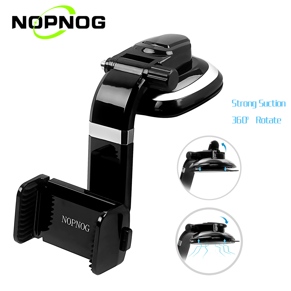 imágenes para NOPNOG Teléfono Universal de 360 Grados Del Coche Del Tablero de Instrumentos Montaje Móvil Amart coche para iphone 5 5s 6 6s plus galaxy xiaomi smartphone