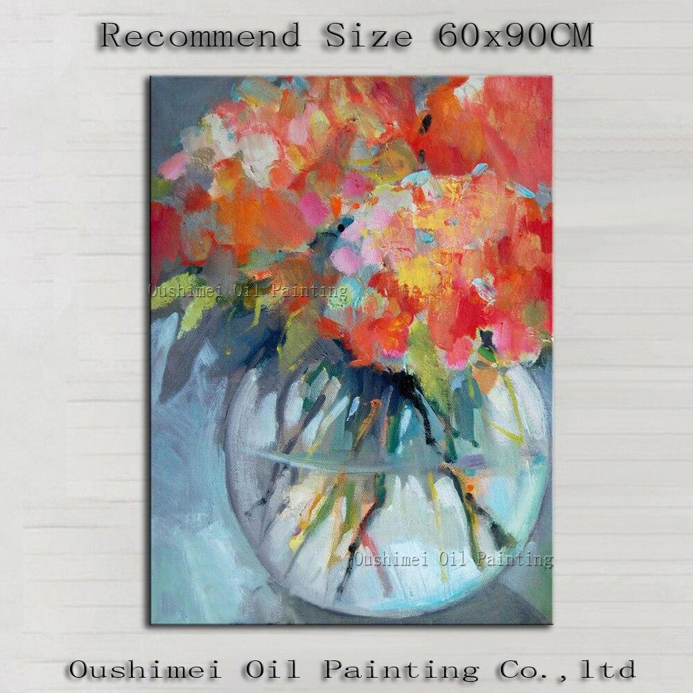 Pintados M O Moderna Garrafa Flor Vermelha Pinturas Imagem  -> Tapete De Sala Pintado A Mao