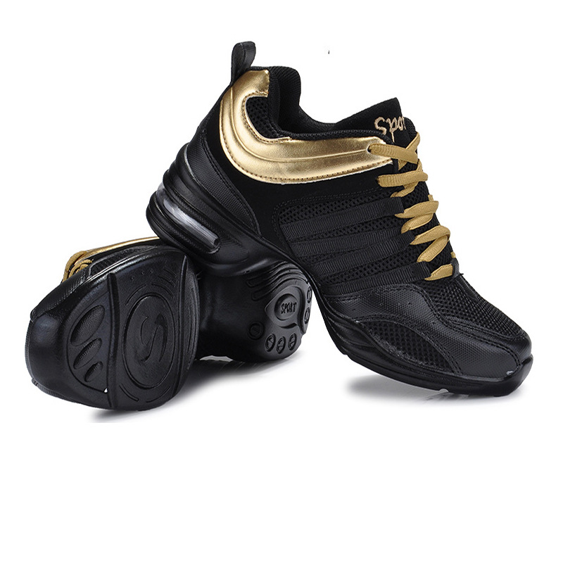 6b203769 2018 gimnasio suela suave aliento zapatos de baile Zapatos Zapatillas de deporte  para mujer zapatos de práctica moderno de la calle Jazz zapatos de baile ...