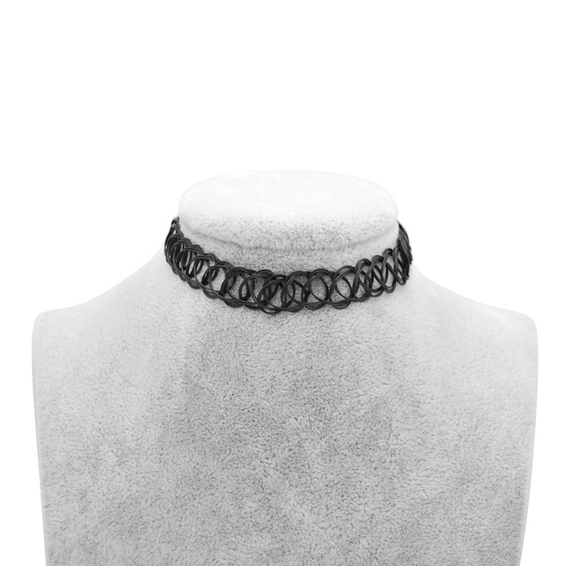 13 Colors Hot Selling Vintage Stretch Tattoo Choker Necklace Gothic Punk Grunge Henna Elastic With Choker Necklaces in Choker Necklaces from Jewelry Accessories