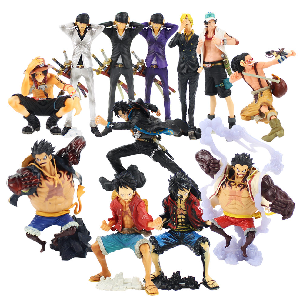 ONE PIECE Ace Sanji Nightmare Luffy Amine PVC Figure Figures Doll Toys Model 6/""