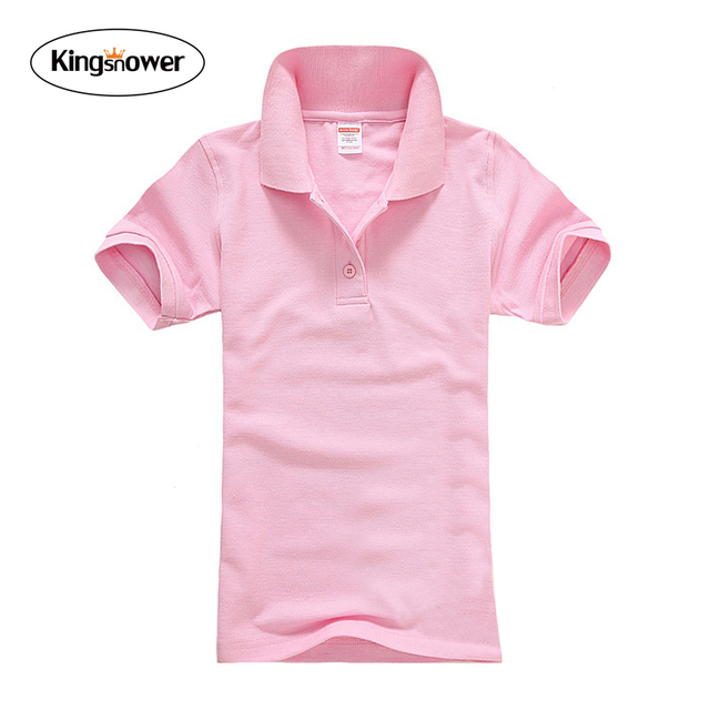 9 COLORS Brand Clothing 2016 Summer Womens Short Sleeve Polo Shirts Lapel Female Leisure Shirt Women's Tops JA2158