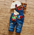 Spring and Autumn Small Children Clothes Fashion Character Trousers Little Boys' Bib Pants Baby Girls' Jeans Children Rompers
