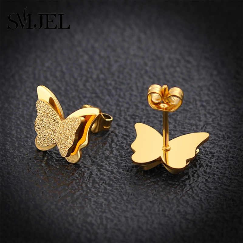 SMJEL Fashion Butterfly zestaw naszyjników złoty zwierząt wisiorki naszyjnik dla kobiet ze stali nierdzewnej prezent dla dziewczyny Collier Femme