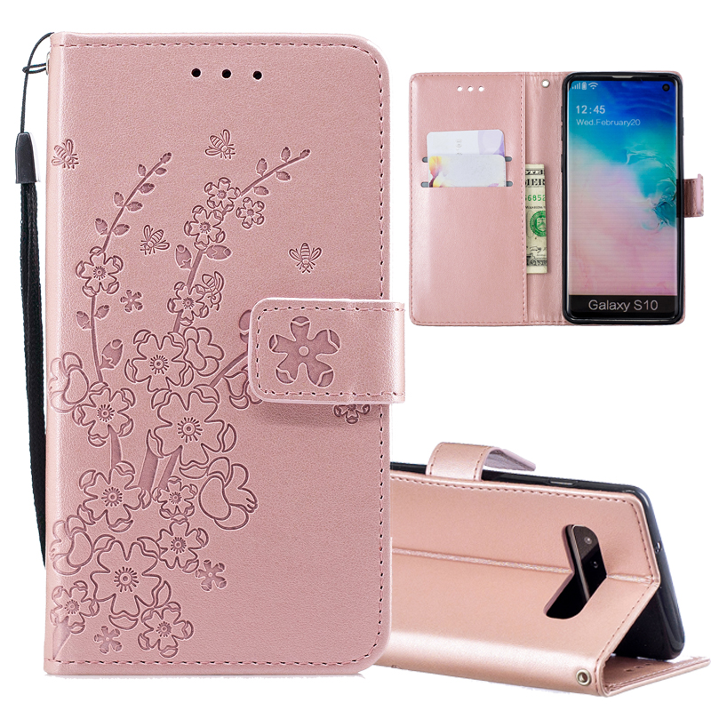 Flower Leather Phone Case For Samsung Galaxy A50 A30 A70 A10 A750 M10 M20 S10 Plus S9 S8 S7 edge S6 S5 Case Flip Wallet Cover