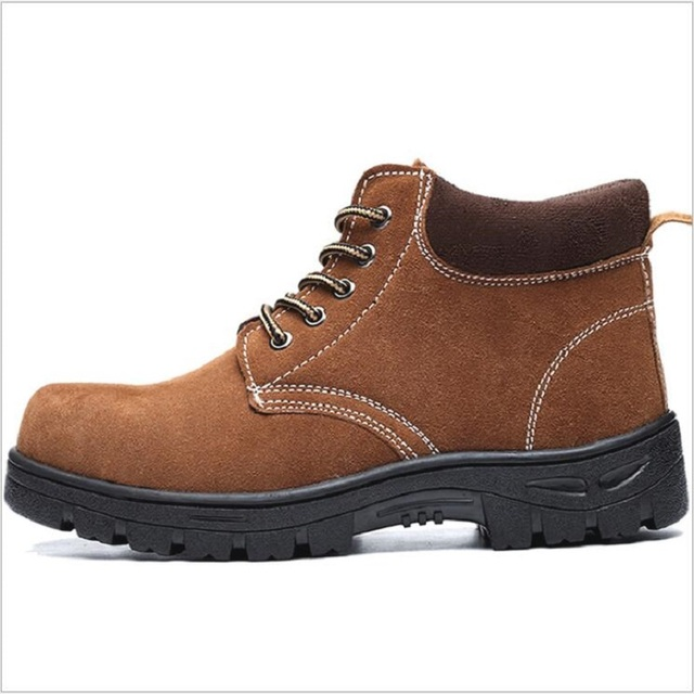 83ac0229fe8 US $18.6 9% OFF|Mens Casual Big Size Welder Dress Steel Toe Caps Working  Safety Welding Shoes Spring Autumn Genuine Leather Platform Ankle Boots-in  ...