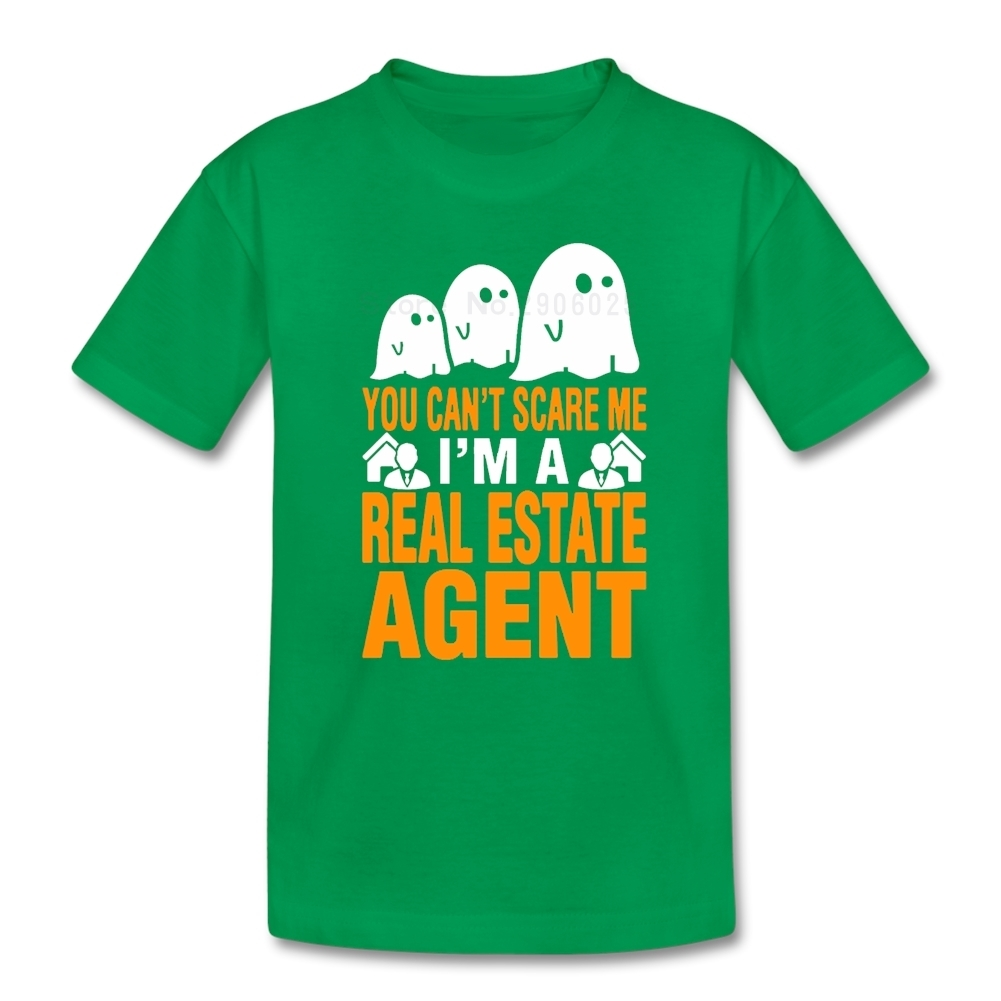You cant Scare Me I Am Real Estate Agent Boys Girls T Shirt Pure Cotton Tshirt childrens Tee-shirt For Sale T-shirt For Kids