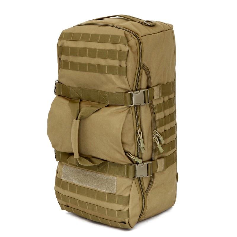 Táticas militares Backpack 60L Homens Multifuncionais Mochilas de Grande Capacidade Bolsa de Ombro de Nylon Mochila Mochila de Viagem À Prova D' Água