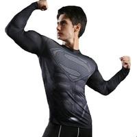 Mma Tees Rashguard 3D T-shirt Fitness Compression T Shirts For Man Movie Character Superman Skull Tops Cosplay Clothing XXXL