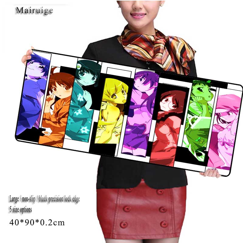 Mairuige Large Anime Pad Mouse Pad To Mouse Notbook Computer Mousepad Custom with Locking Edge Gaming Mouse Pads Gamer