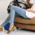 Nove-buraco Elásticas Calças de Maternidade Gravidez denim roupas jeans para grávidas calças mulheres barriga calças 2017 Novas calças Jeans Maternidade