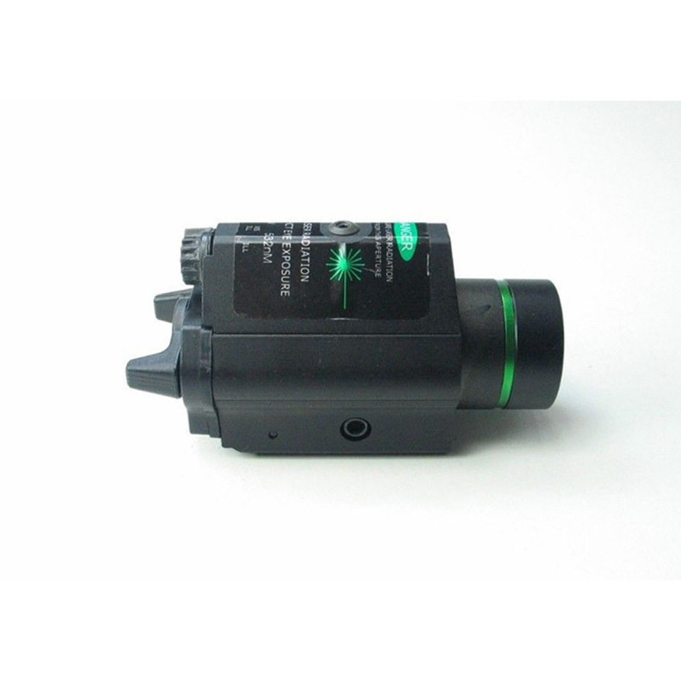 Tactical Green Laser Sight with LED Flashlight 2 in 1 Combo 20mm Mount Ultra Bright 225 lumen for Glock 17 Hunting-4
