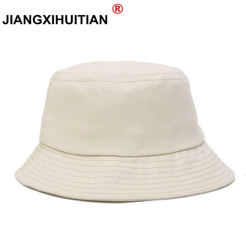 2018 Hot Sale Unisex Bucket Hat Panama Women Simple Style Solid Color Sun  Hat men and 2f04f8b9f08e