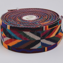 52mm high quality acrylic cotton jacquard webbing with printing colorful for belt embroidered