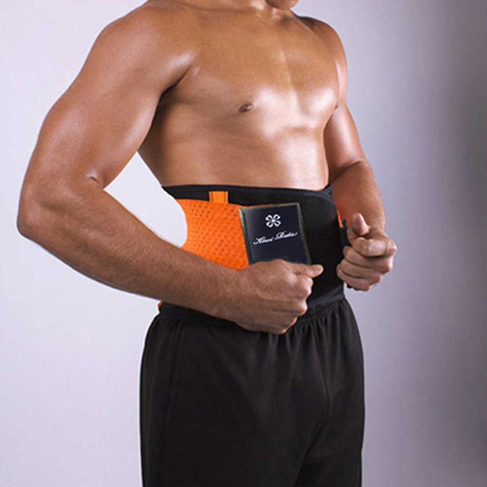 8068fffe28ab1 ... Women Men Sweat Belt Modeling Strap Hot Shaper Waist Cinchers Waist  Trainer Corset For Weight Loss ...