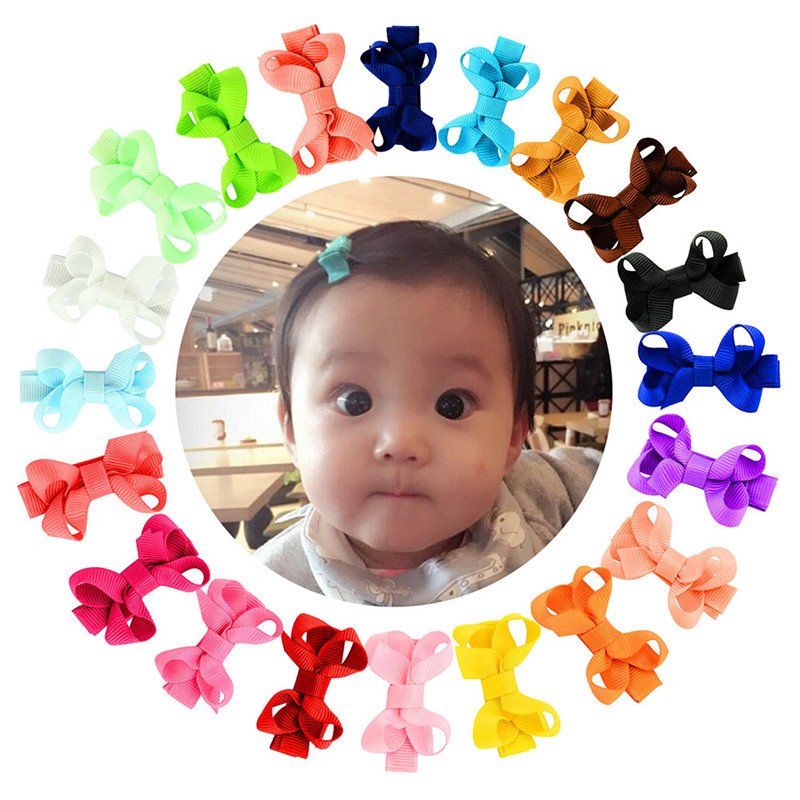 10 Pcs/lot Girls Hairbow Children Hair Clips Kids Newborn Hairpins Girls Hair Bows Clips Hair Accessories Ties Barrettes