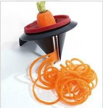 1PC Practical Spiral Vegetable Slicer Funnel Grater Shred Device Carrot Julienne Cutter Kitchen Gadget KX 015