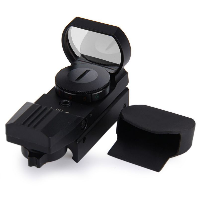 Tactique de Chasse Sport 11 Ferroviaire Chasse Airsoft Optique Portée Holographique Red Dot Sight Reflex 4 Réticule Accessoires
