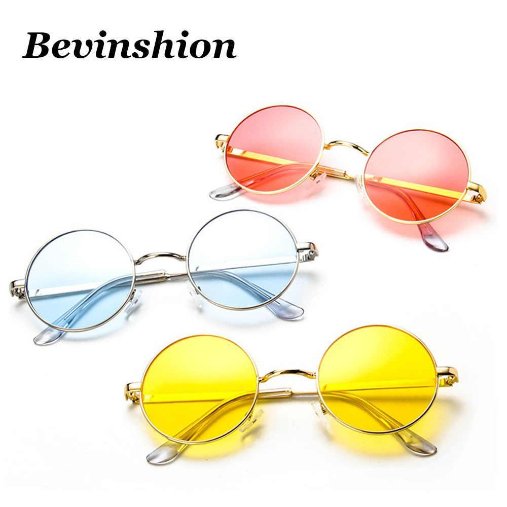 94a5d8458 ... Vintage Round Sunglasses Men Women Celebrity Hip-Hop Retro Sun Glasses  Transparent Yellow Lens Goggles ...