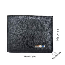 Men Wallets Men's Smart Wallet Genuine Leather Material Bluetooth Alarm Tracker Anti-Lost/theft Safe Small Purse