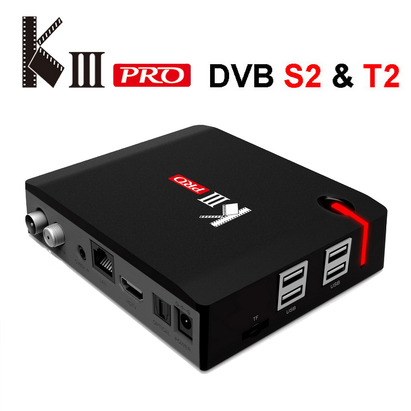 MECOOL KIII Pro <font><b>Android</b></font> TV Box Satellite TV Receiver <font><b>DVB</b></font> S2 <font><b>T2</b></font> <font><b>DVB</b></font>-C 3G 16G Amlogic S912 4 K 3D Media Player AC Wifi 1000 M LAN image