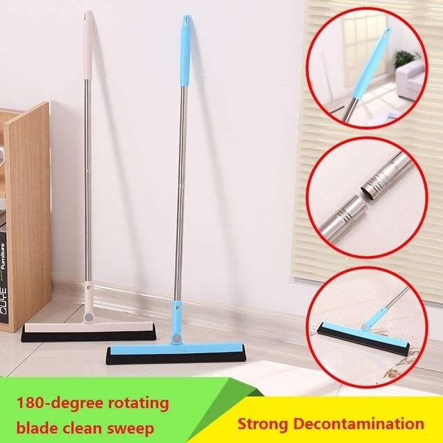 1pcs Floor Wiper Cleaning Brushes Home Broom Kitchen Bathroom Wiper Glass  Window Cleaner Scraper Household Floor