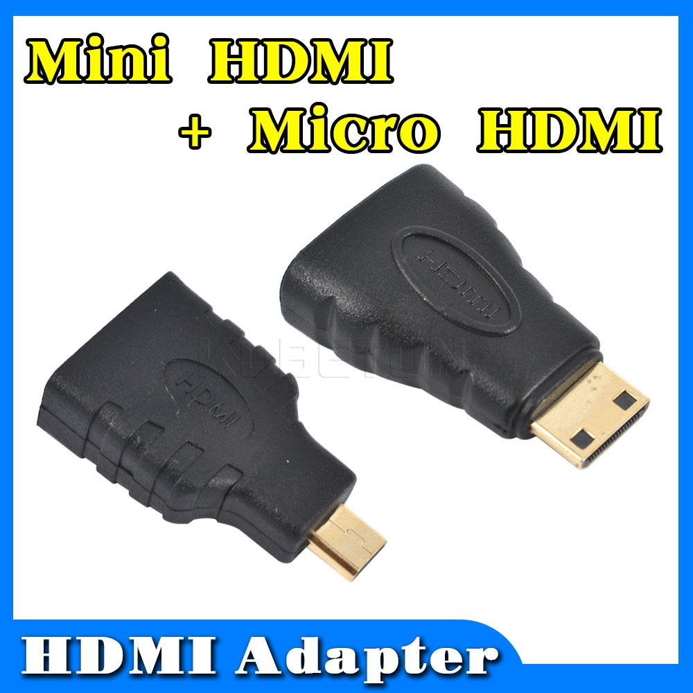 1 Set Hot Hdmi To Mini To Micro Hd Gold Extension Adapter Converter Connector For Evo 4g Htc Vedio Tv For Xbox 360 For Ps3