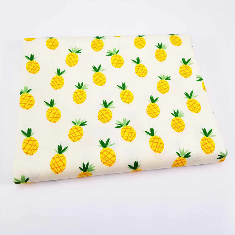 Lovely Pineapple Printed Baby Cotton Twill Fabric Patchwork Cloth for DIY Sewing Quilting Fat Quarters Material For BabyΧld
