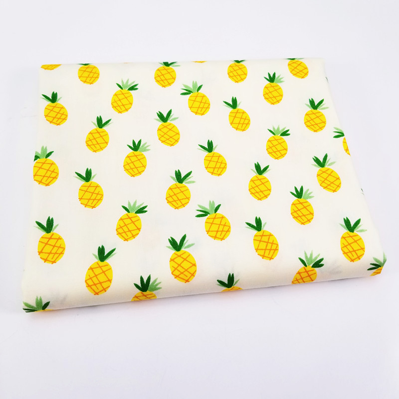 Lovely Pineapple Printed Baby Cotton Twill Fabric Patchwork Cloth for DIY Sewing Quilting Fat Quarters Material For Baby&Child