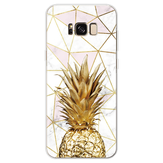 Pineapple Cover For Samsung Galaxy A30 A50 J7 Prime S7 Edge S8 S9 S10 Plus A3 A5 A6 A8 Note 8 9 2016 2017 2018 Marble TPU Case