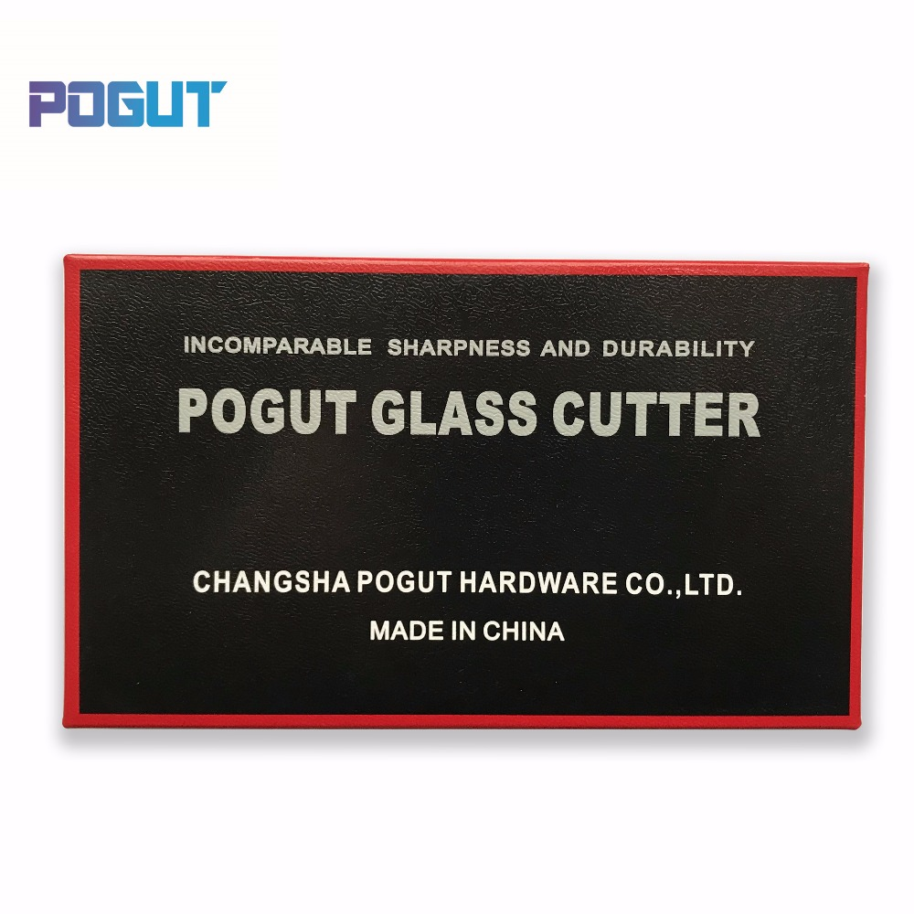Купить с кэшбэком 6pcs/Pack POGUT CHINA Glass Tile Cutter TC-17 Metal Handle for 3-10mm Glass Straight Cutting Brass Spareparts Toyo type